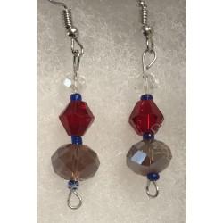 Earrings - Crystal beads:...