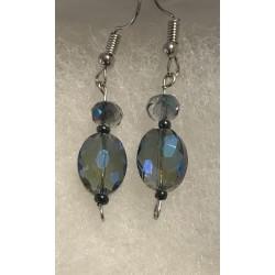 Earrings - Crystal beads in...